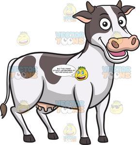 A Joyful Cow.