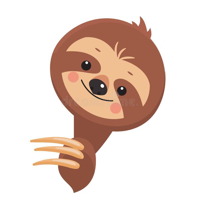 Joyful Sloth Stock Illustrations.