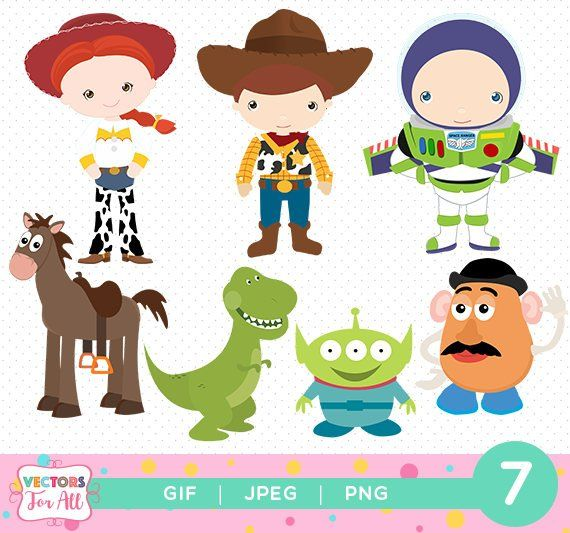 Toy Story ClipArts Pack, Toy Story GIF PNG JPG Files, Disney.
