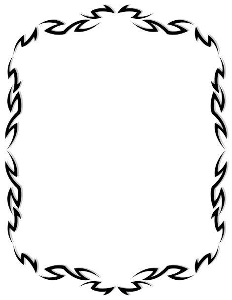 Printable tribal border. Free GIF, JPG, PDF, and PNG.