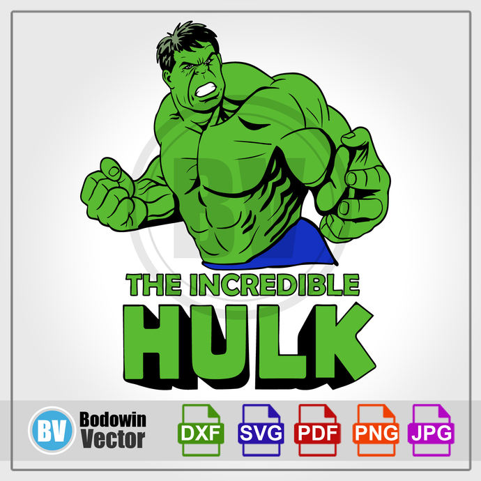 Hulk SVG / Instant Download / Digital Clipart / Cutting Files / Cricut /  Silhouette Cameo / (SVG, DXF, PNG, JPG, PDF).
