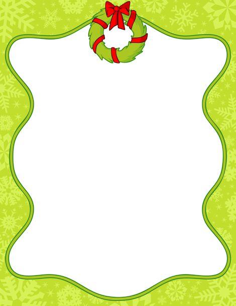 Printable Christmas wreath border. Free GIF, JPG, PDF, and.