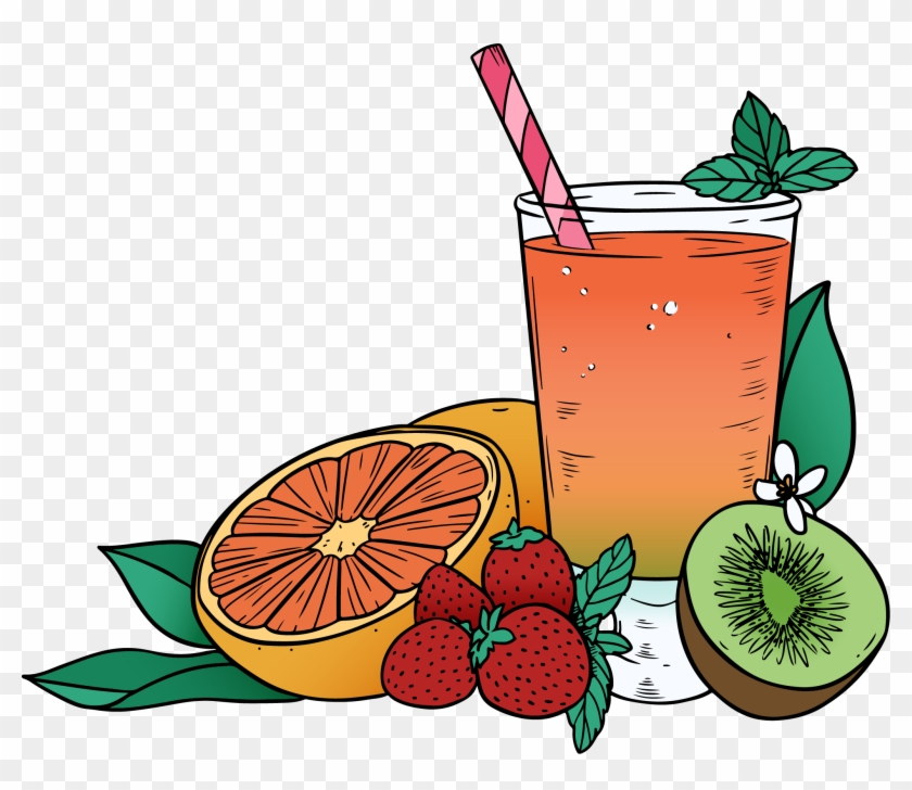 Juice Clipart Mixed Fruit.