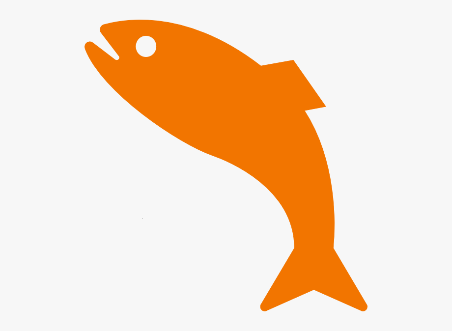 How To Set Use Orange Jumping Fish Svg Vector.