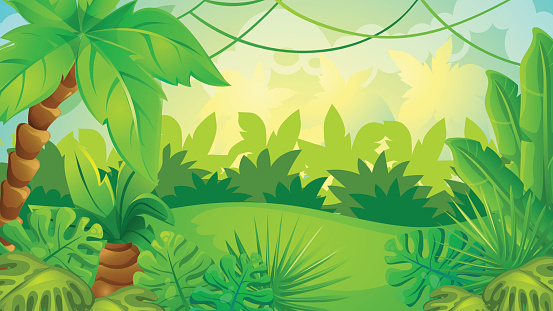 Jungle clipart background 6 » Clipart Station.