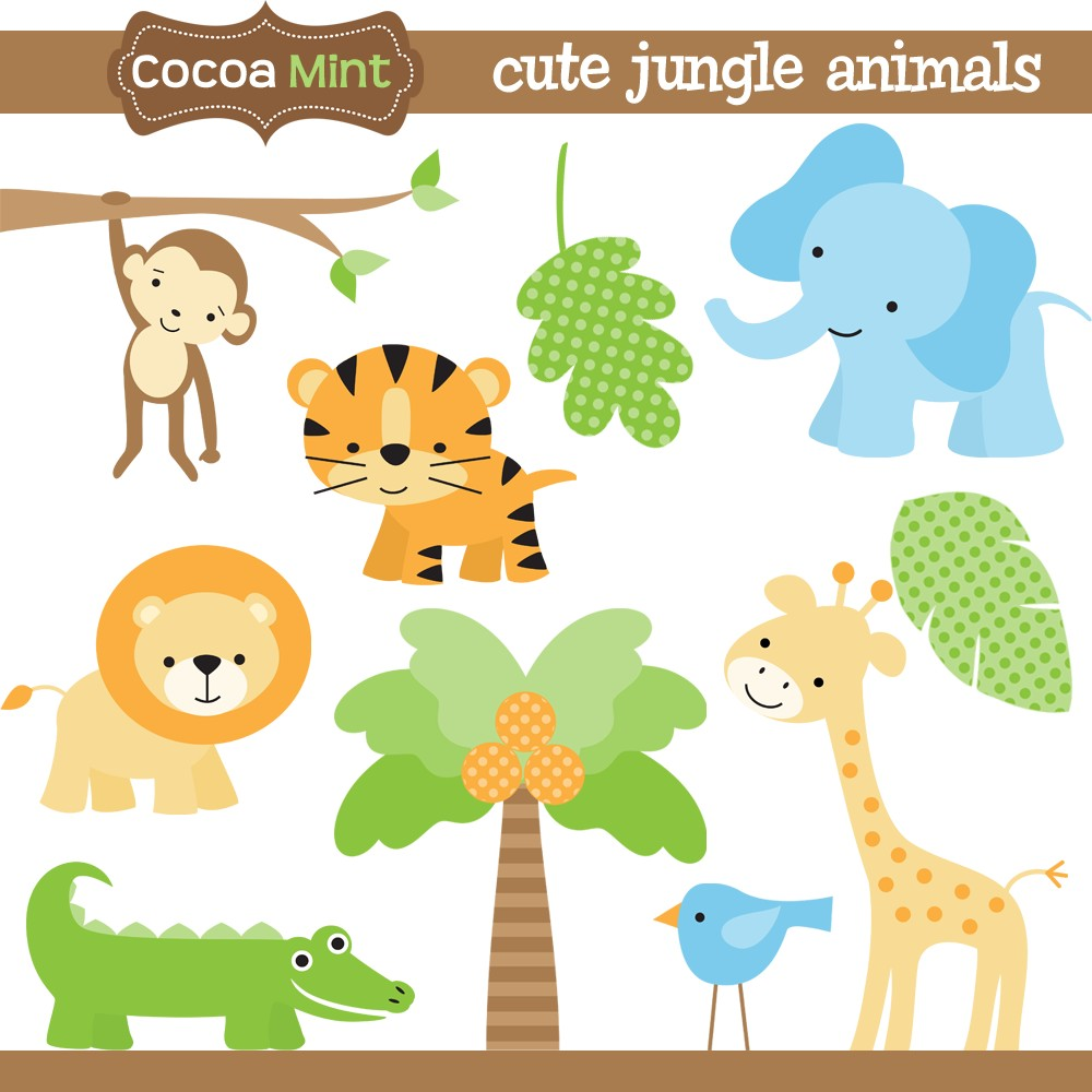 Free Printable Jungle Animal Clipart.