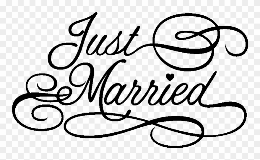 Just Married Sign Png Clipart (#697073).
