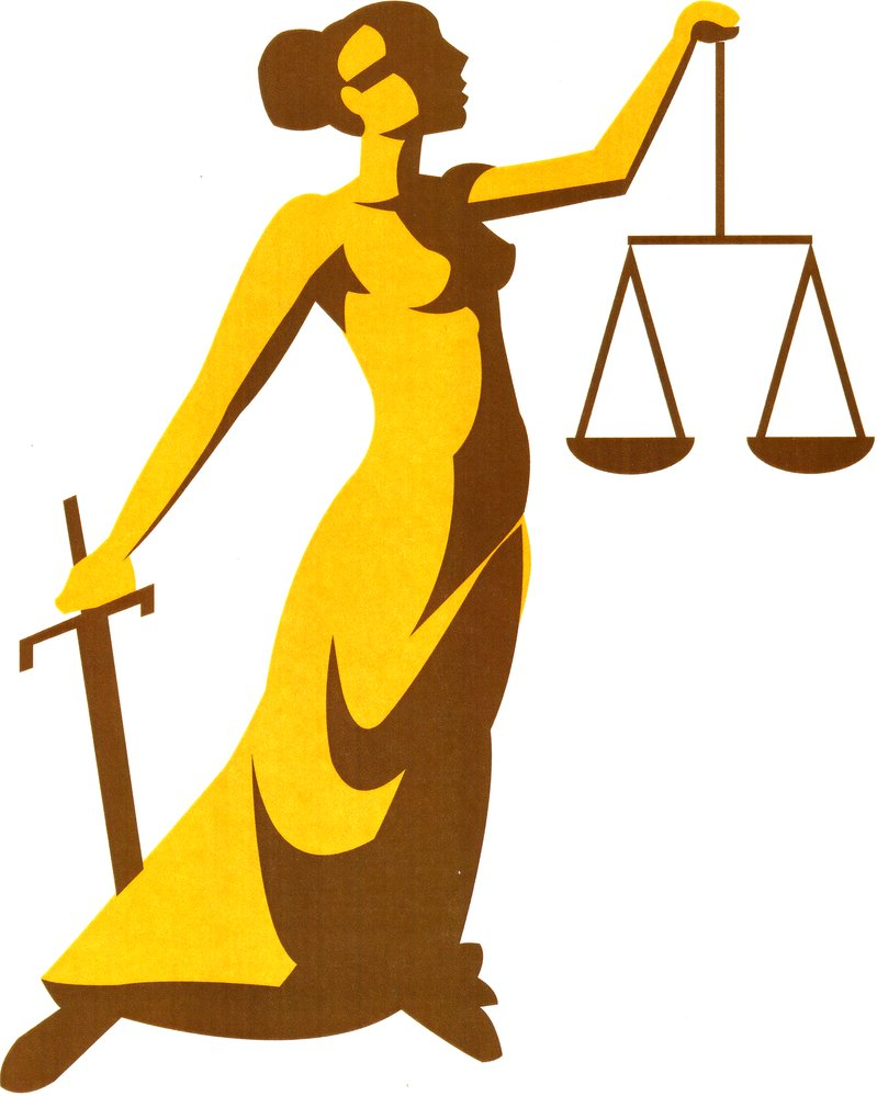 Lady justice vector clipart.