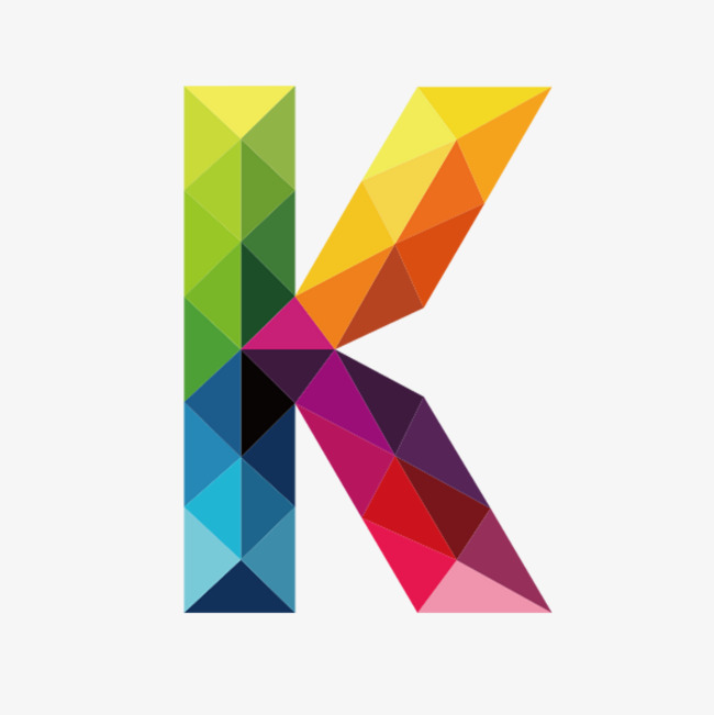 Colorful Letters K, Letter, K, Colorful PNG Transparent Image and.