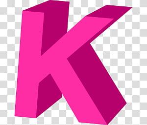 Letter K transparent background PNG clipart.