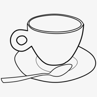 Coffee Pinart Illustration Of A Cup Outline Ⓒ.