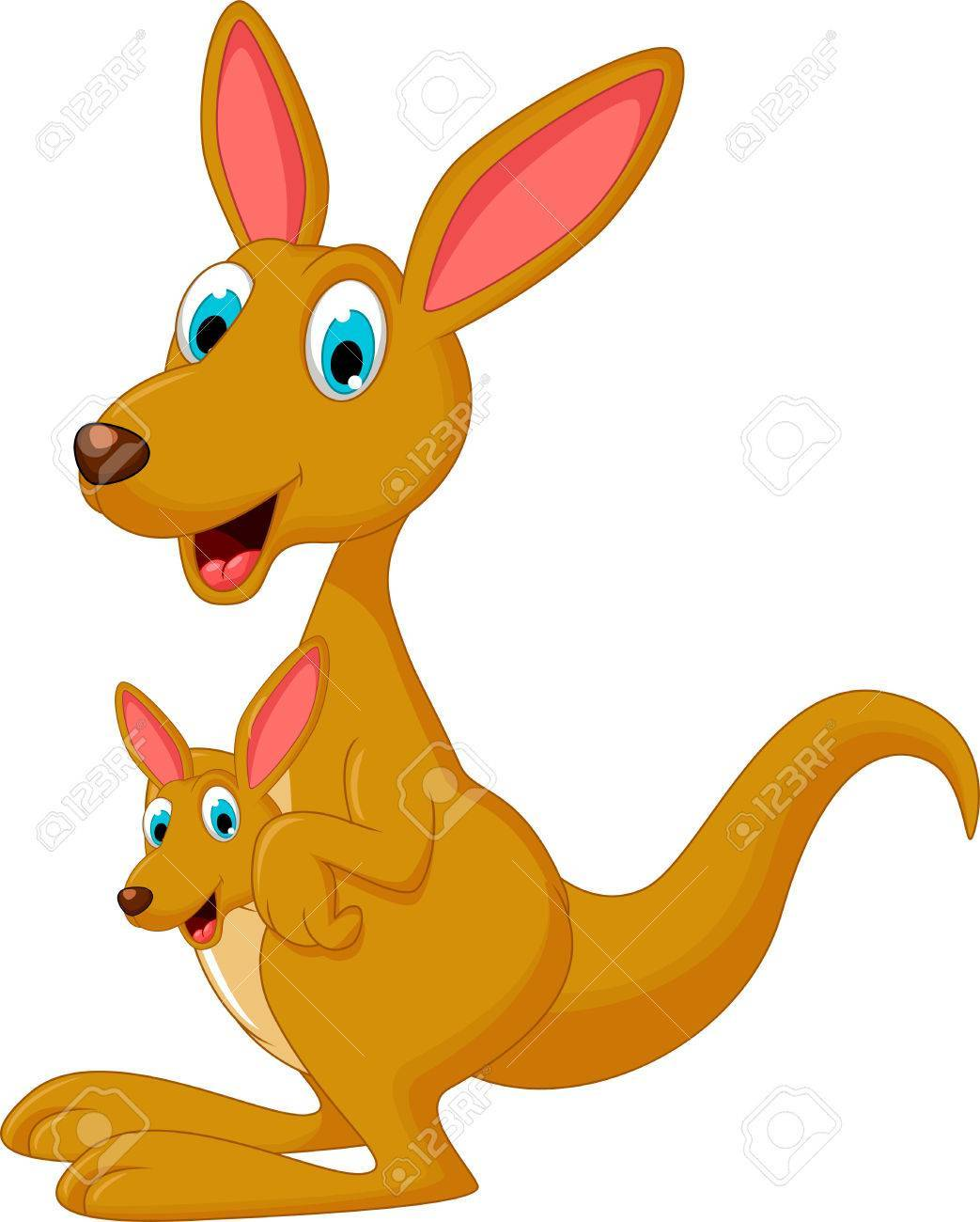 Kangaroo and joey clipart » Clipart Portal.