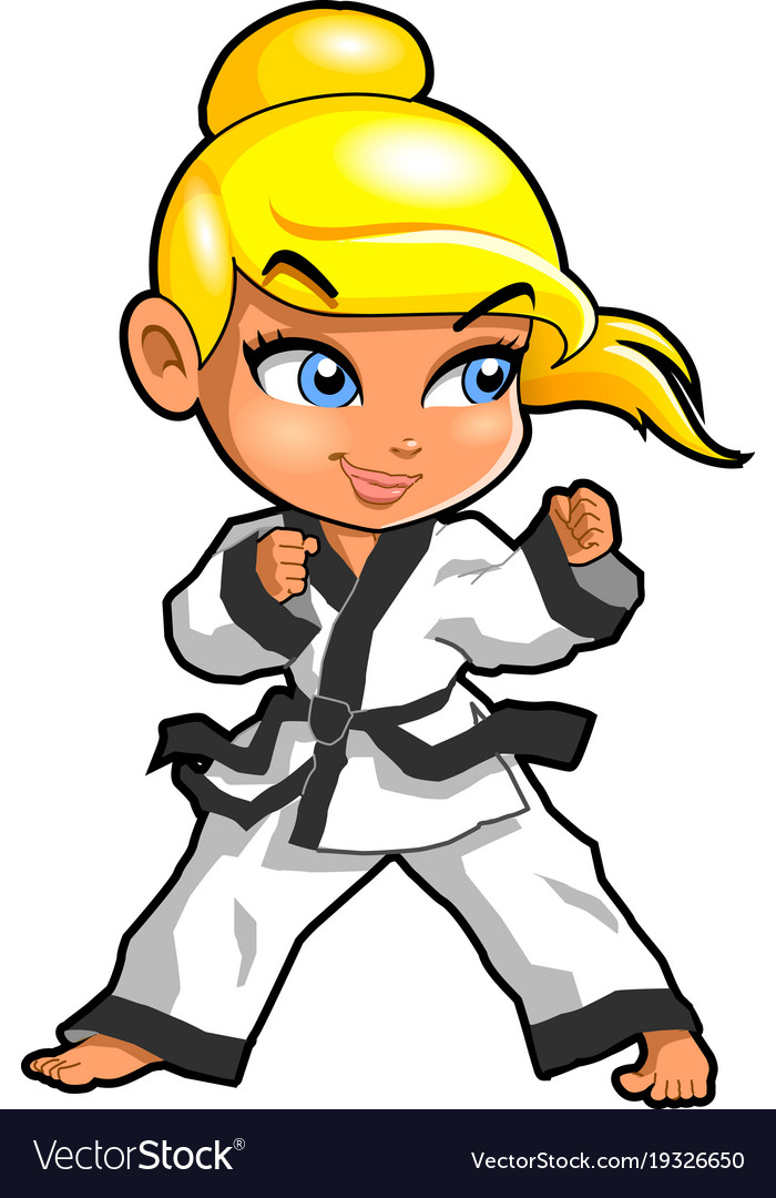 Karate martial arts tae kwon do dojo clipart.