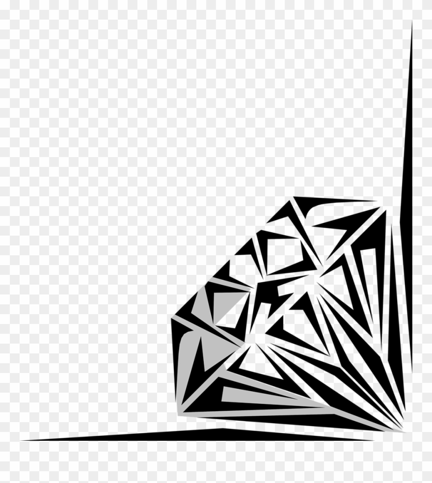 Diamonds Clipart Card.