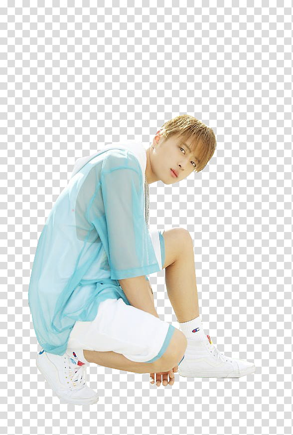 K A R D HOLA HOLA P , teal clothes and white shorts.