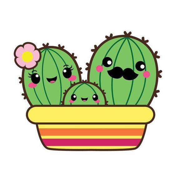 Kawaii clip art, Valentine clipart, kawaii cactus clipart, kawaii.
