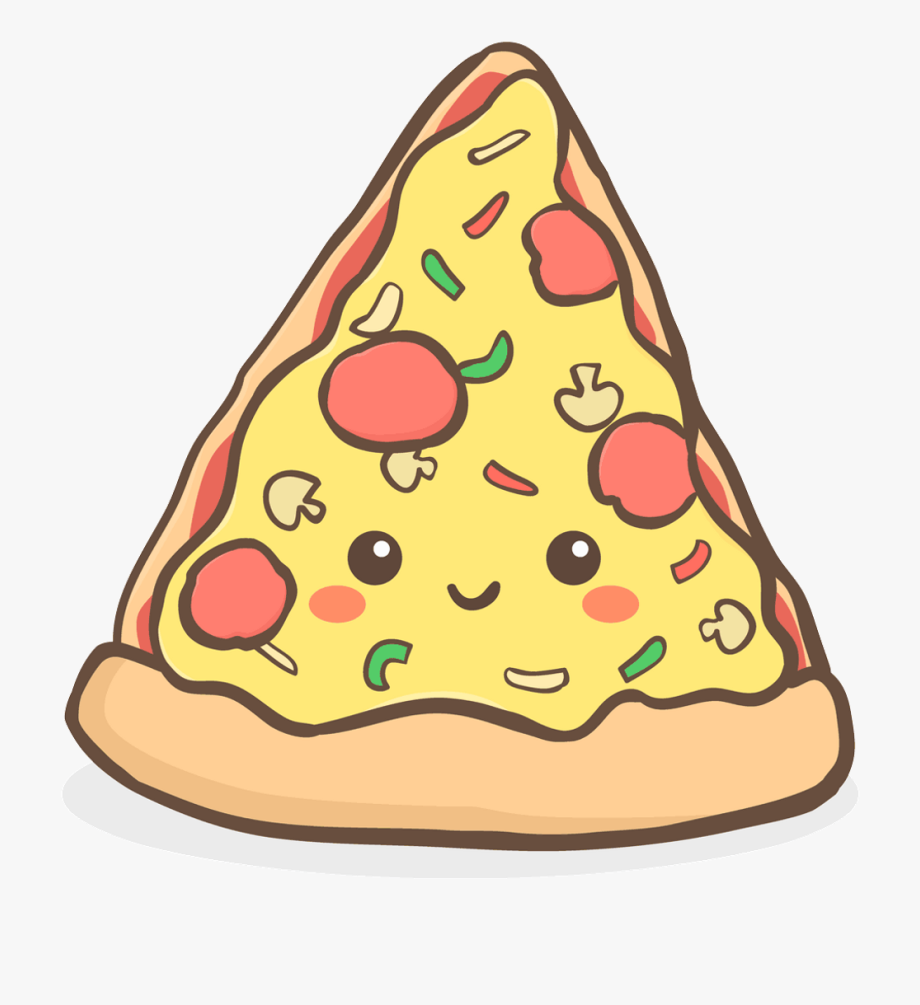 Pizza Clipart Kawaii.