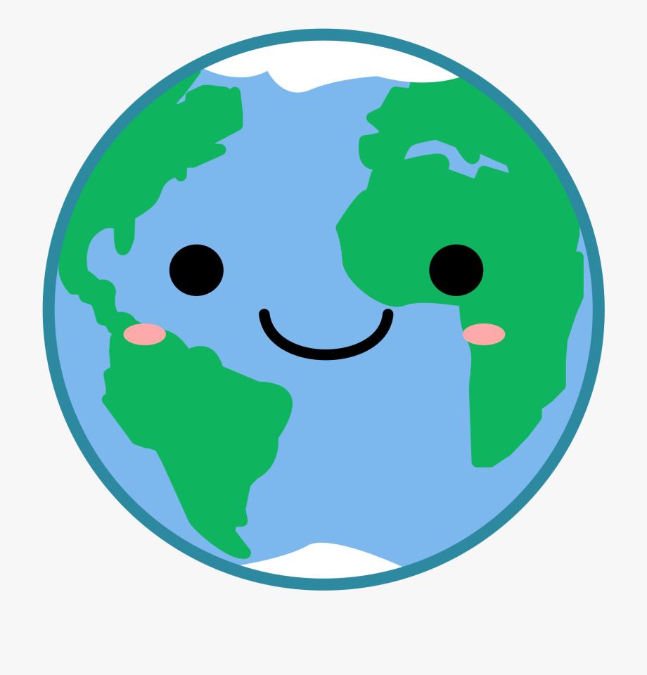 Globe Earth Clipart Kawaii Vector Image Transparent.