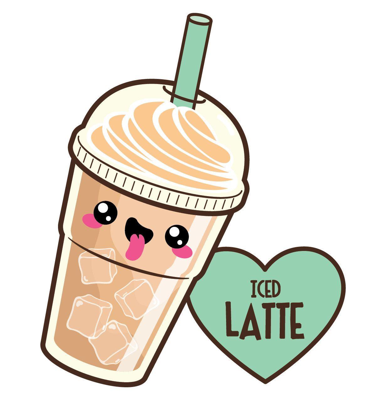 Coffee clipart, kawaii coffee clipart, cute coffee clipart, kawaii.
