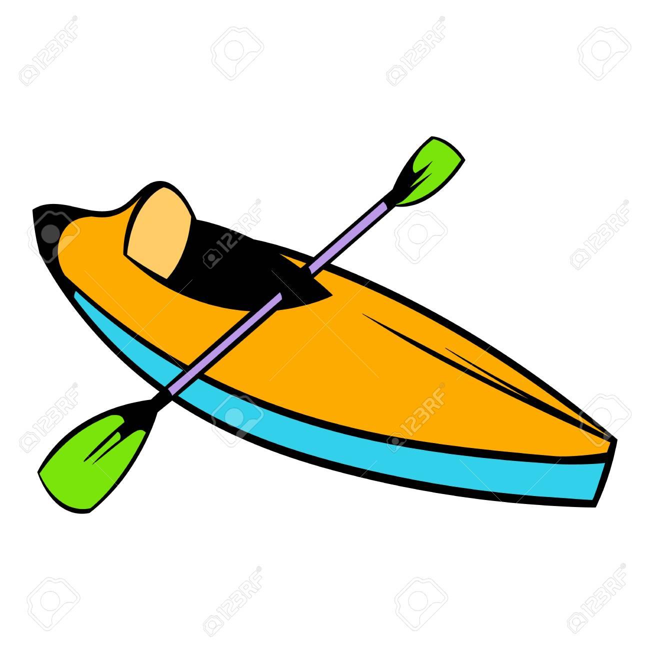 Kayak icon, icon cartoon » Clipart Station.