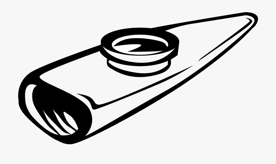 Black And White Kazoo Vector Clip Art.