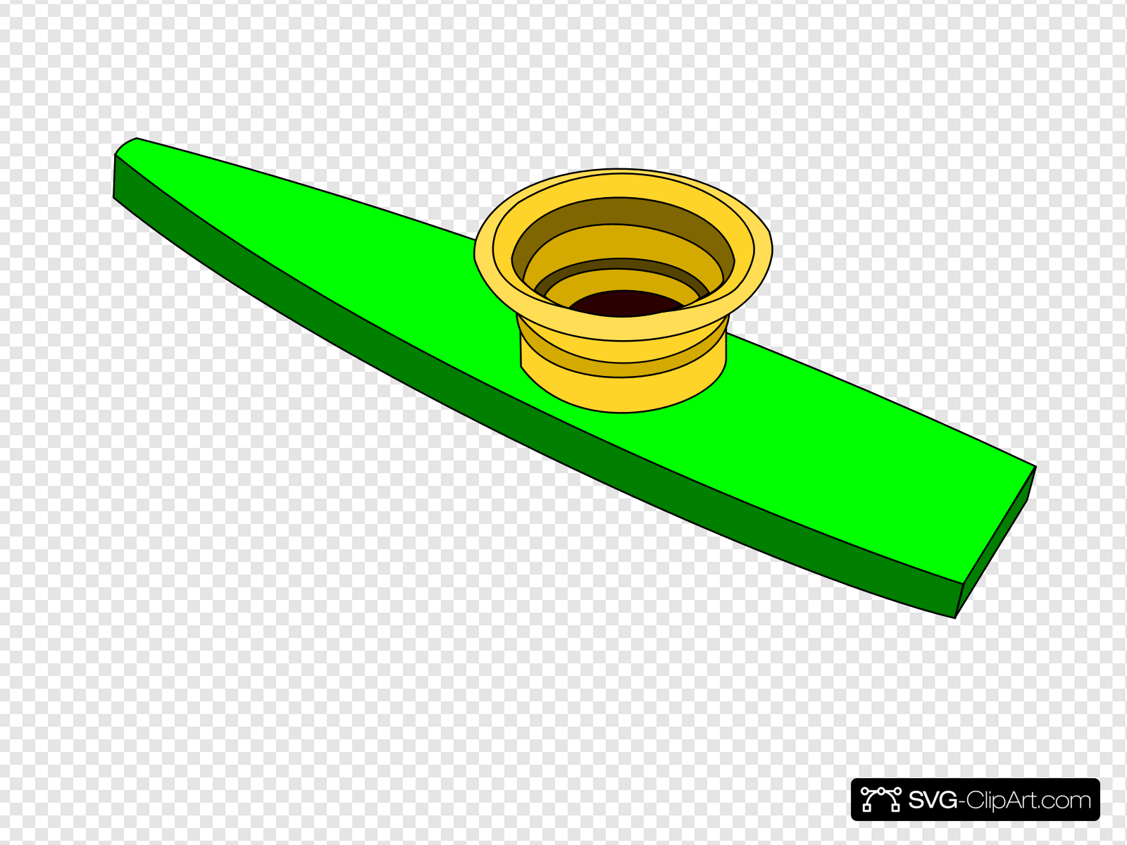 Green Kazoo Clip art, Icon and SVG.