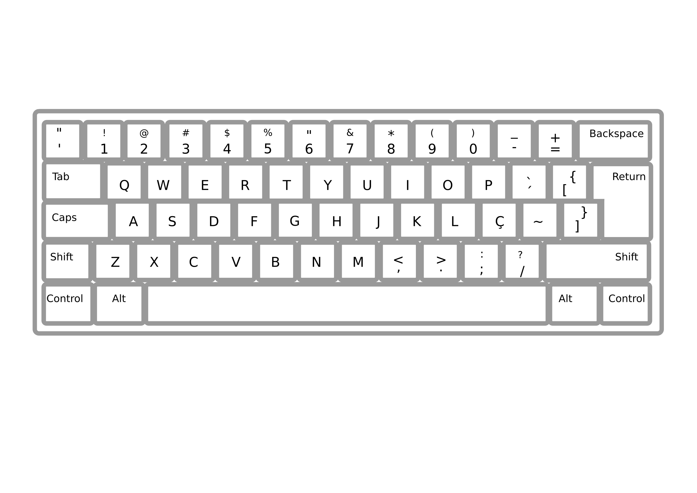 Clipart keyboards 2 » Clipart Station.
