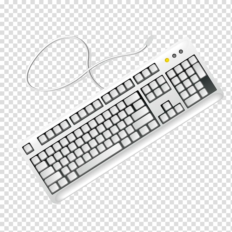 Computer keyboard Computer mouse , Gray keyboard transparent.