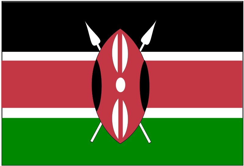 Free Clipart: Flag of Kenya.