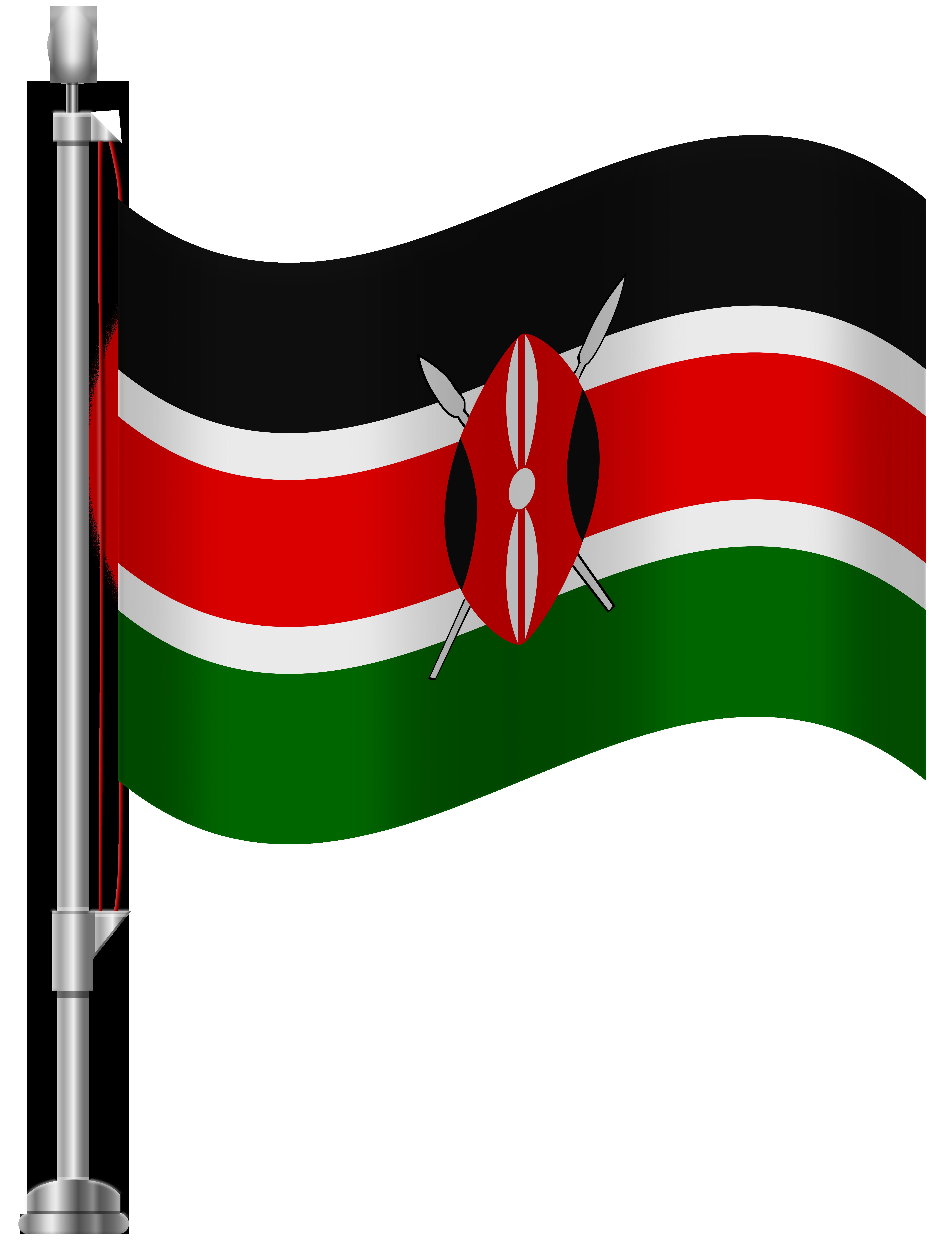 Kenya Flag PNG Clip Art.