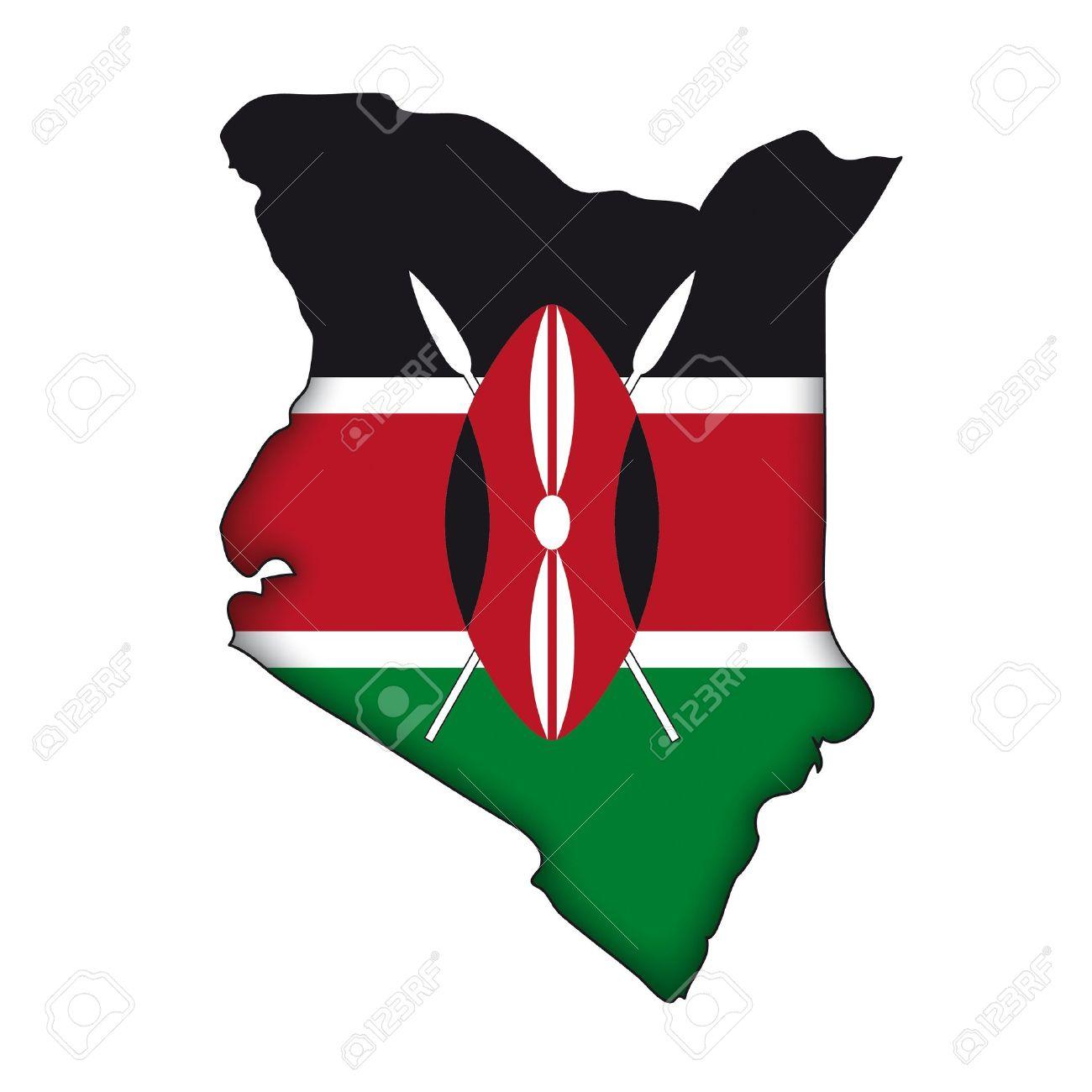 Map Of Kenya Clipart.