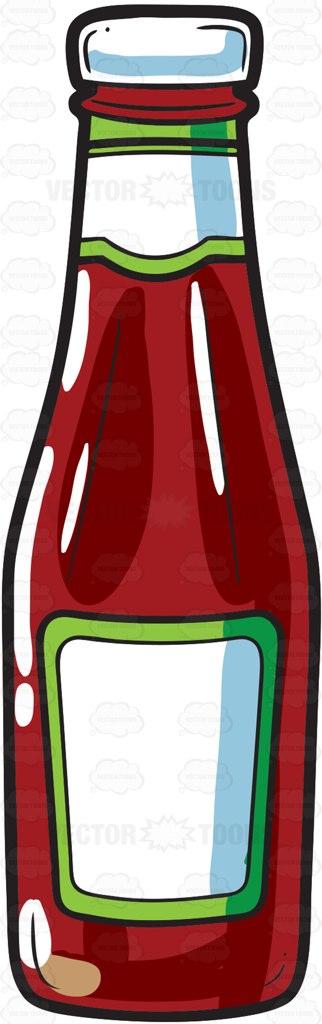 Tomato and ketchup bottles pattern image jpg.