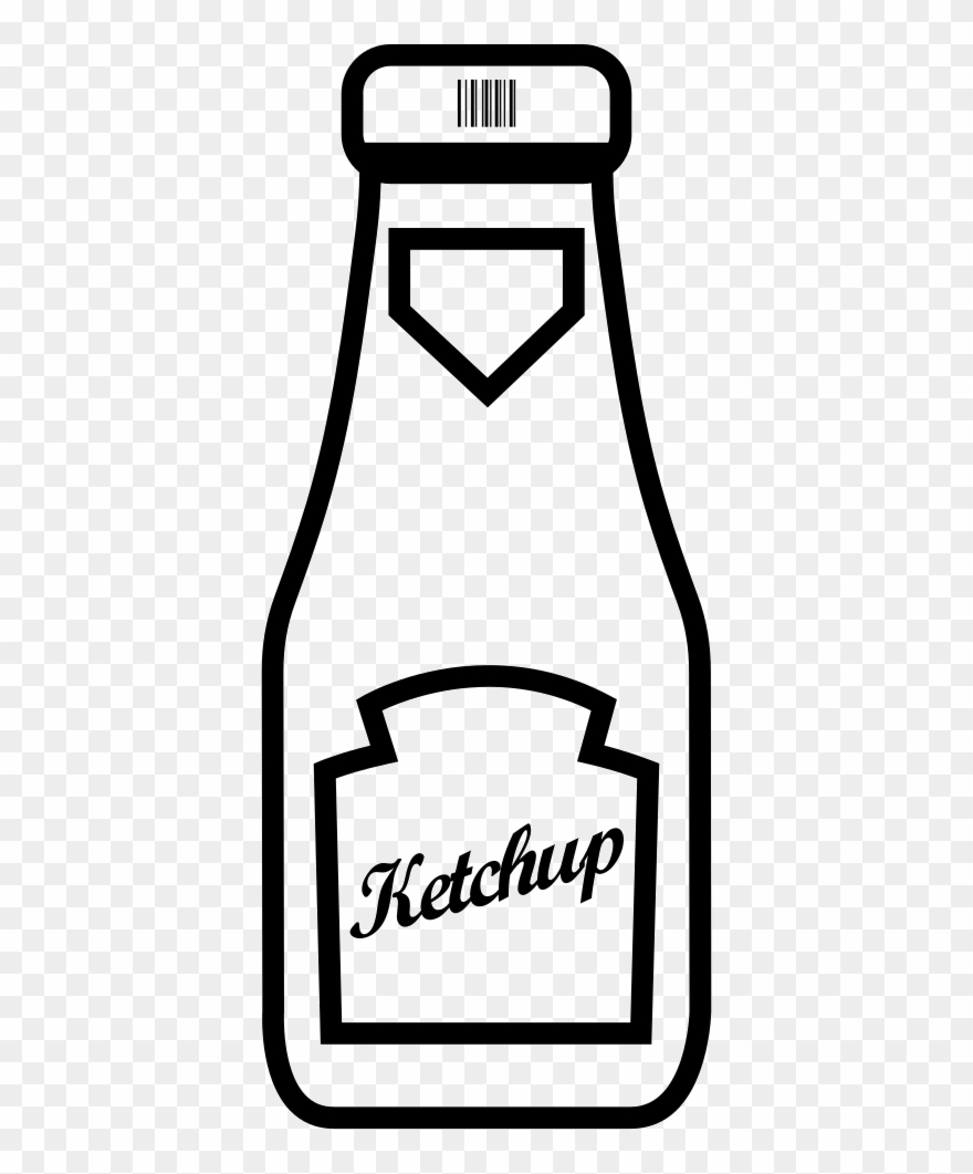 Bottle Clipart Ketchup Bottle.
