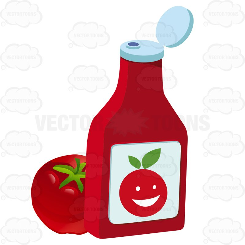 Ketchup bottle clipart 3 » Clipart Station.