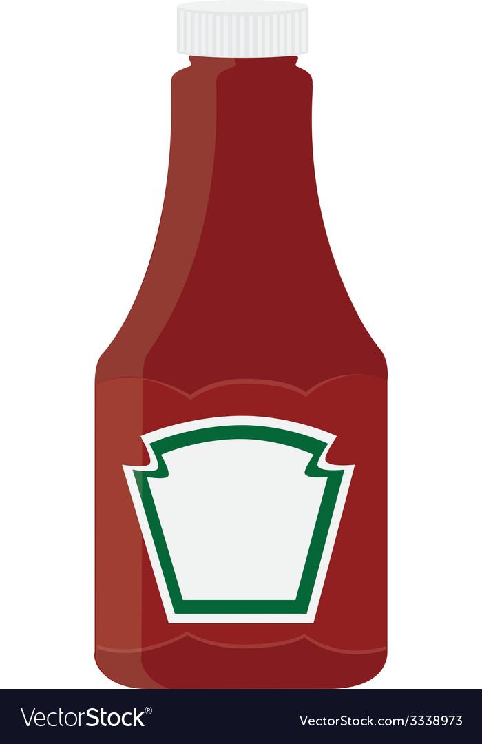 Ketchup bottle.