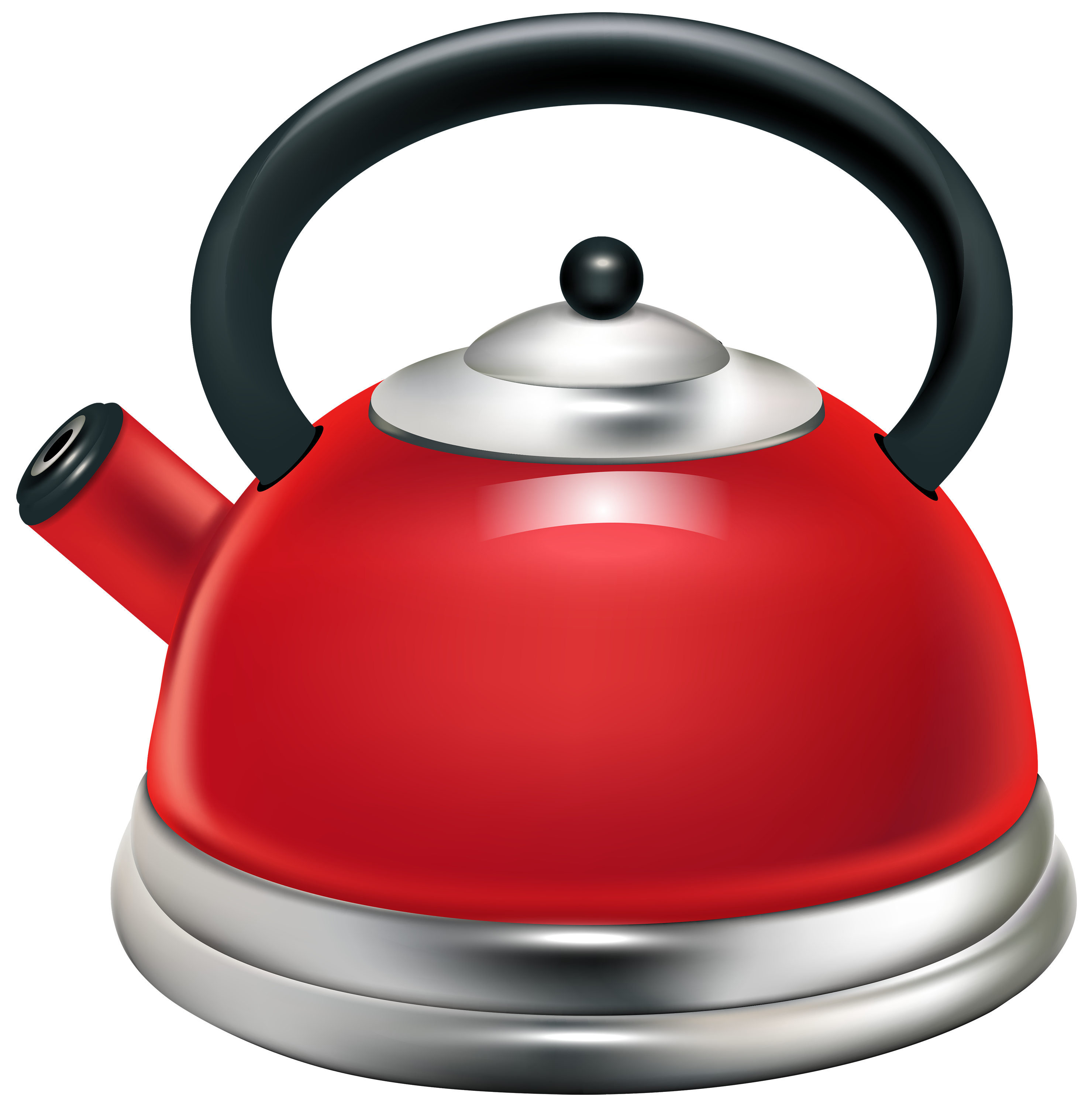 Red Kettle PNG Clipart.