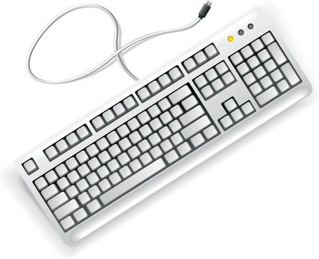 Free White Computer Keyboard Clipart And Vector Graphics Me.