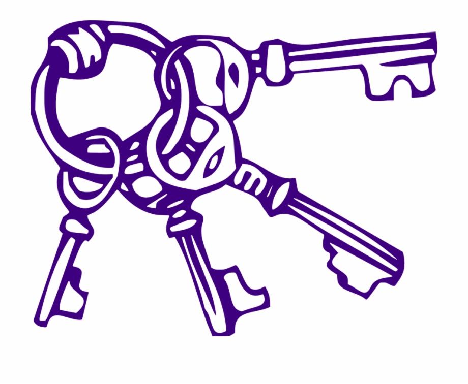 Key Clipart Purple.