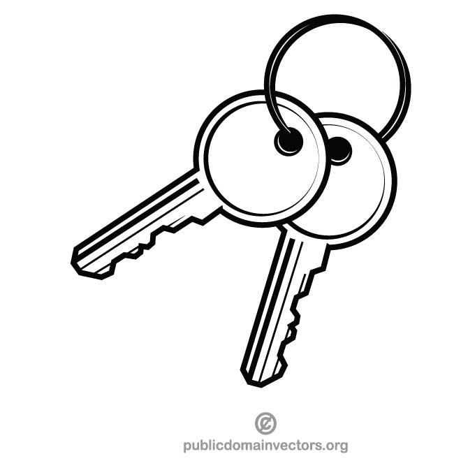 Pair of keys.