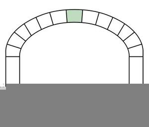 Clipart Keystone Arch.