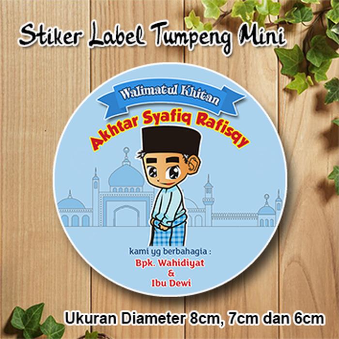 Jual Stiker Label Khitanan Anak Stiker Tumpeng Mini Khitan.