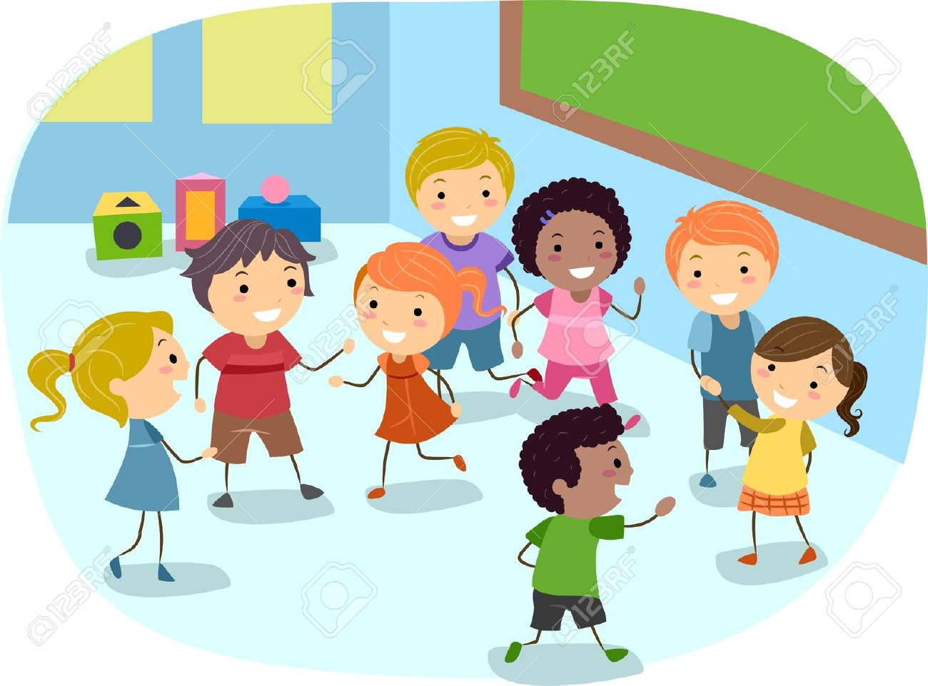 Kid In A Classroom Clipart.