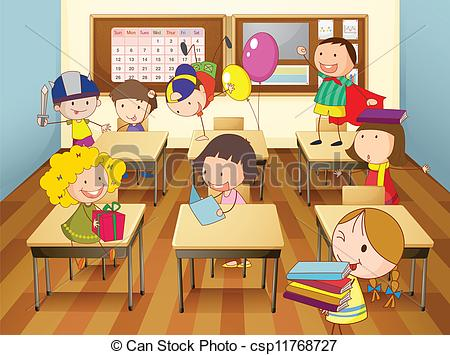 Clipart Kid Misbehaving In School.