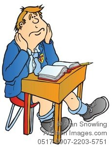 Kid In Classroom Clipart.