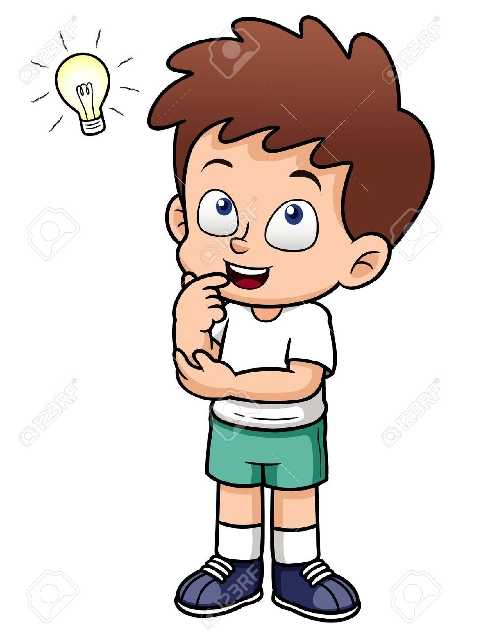 Clipart Of Kid Thinking.