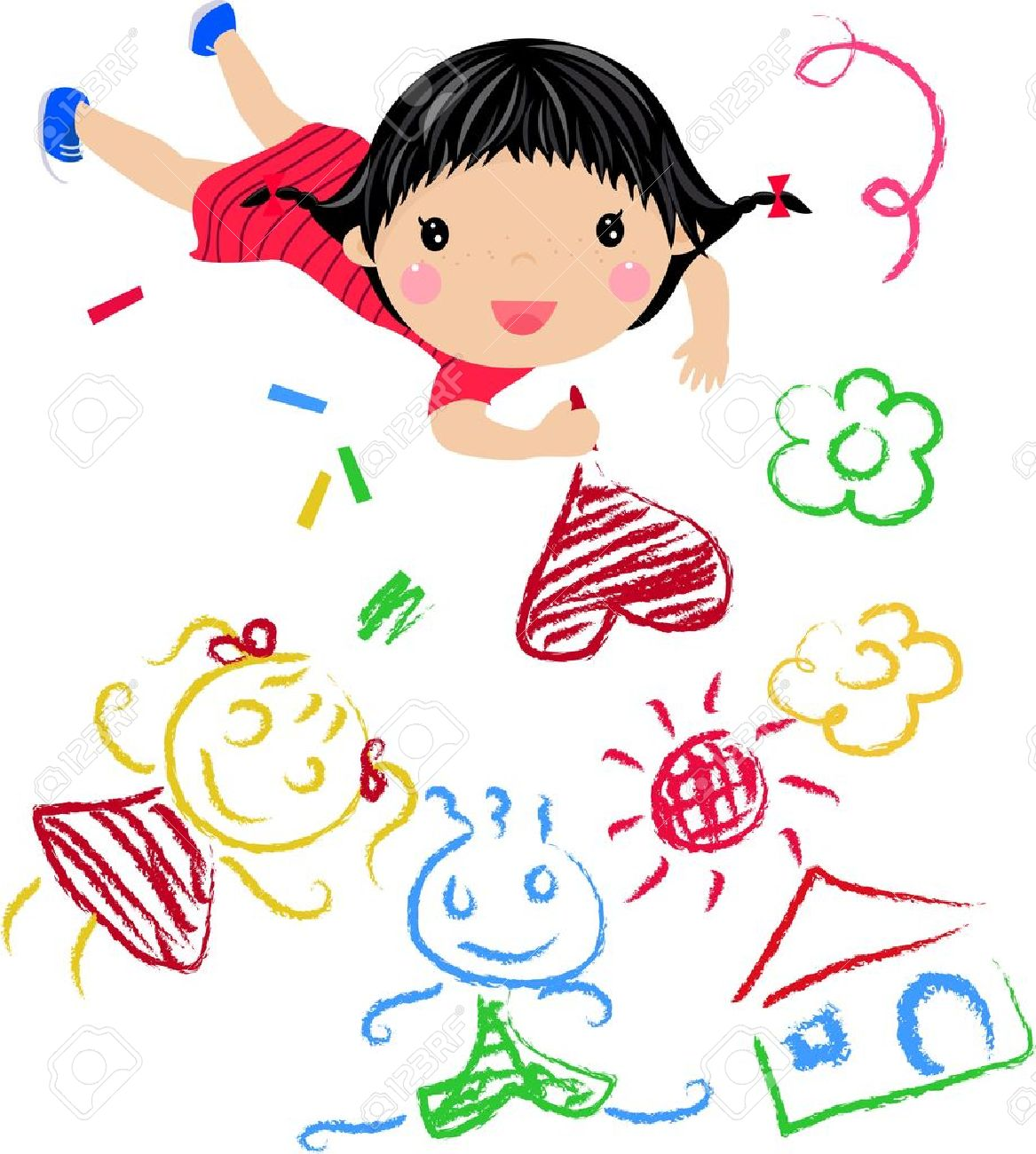 kids drawing - Kid Drawing Picture