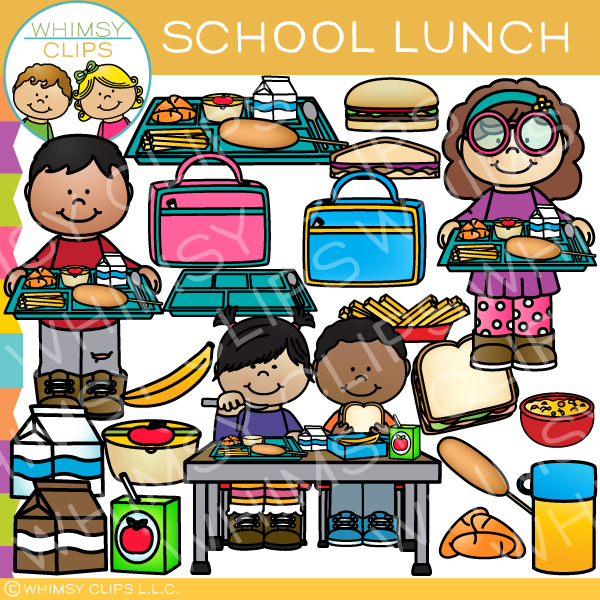 School Lunch Clip Art.
