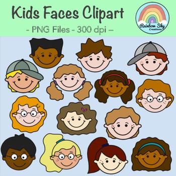 Kids Faces Clipart.
