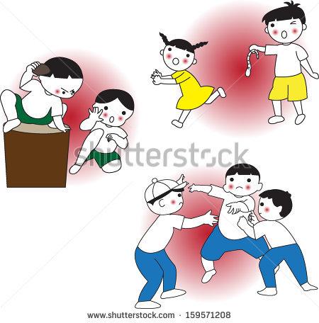Kids Fighting Stock Vectors, Images & Vector Art.