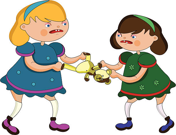 Sisters Fighting Clip Art, Vector Images & Illustrations.